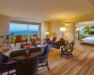 Grand Wailea Honua'ula Suite Living Room