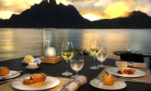 st regis bora bora romantic beach dinner