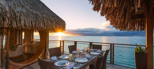 conrad Bora Dining on balcony