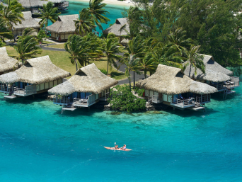 Kayaking at Intercontinental Moorea