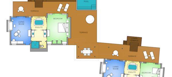 Four Seasons Bora Two-Bedroom-Herenui-Overwater-Bungalow-Suite Map