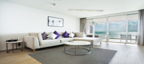 Breathless Cancun Presidential-Suite-Ocean-Front-living-area