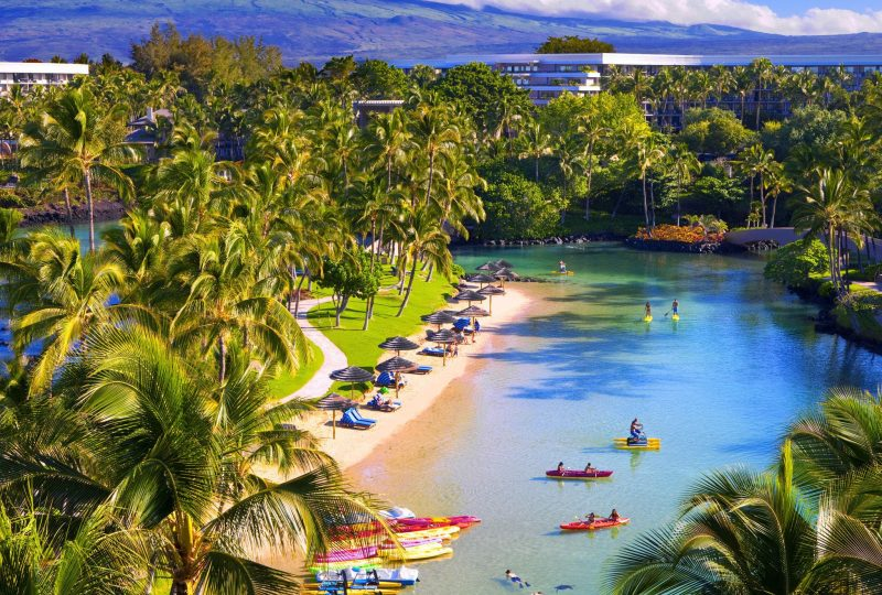 Hilton Waikoloa Saltwater lagoon