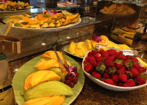 Hyatt kauai fruit Section Breakfast Buffett