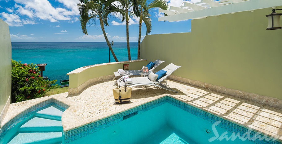 Sunset Bluff Oceanfront Two Story One Bedroom Butler Villa Suite with Private Pool - BP