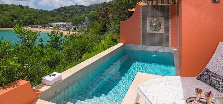 Sunset Bluff Honeymoon Oceanfront One Bedroom Butler Villa Suite with Private Pool - BS