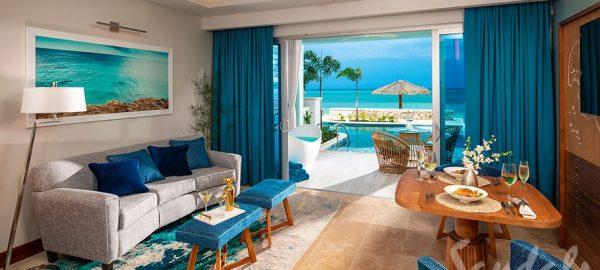 Beachfront Swim-up Millionaire One Bedroom Butler open Living Room- SM1B