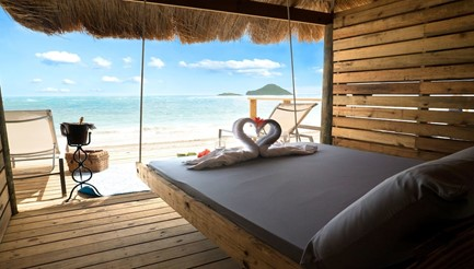 erenity st lucia beach hut