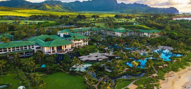 hyatt kauai aerial view